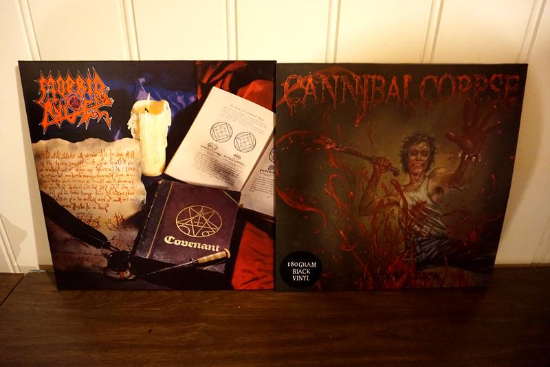 Morbid Angel: Covenant & Cannibal Corpse: Red Before Black, BLACK VINYL
