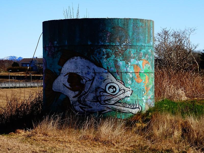 An old silo at Hundvåg (April 2021)