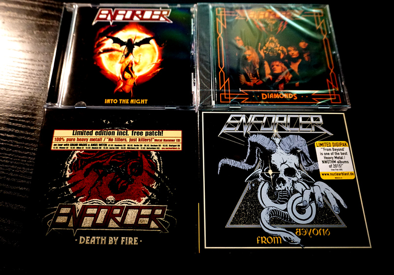 Enforcer: Into the Night, Diamonds, Death by Fire (Limited Edition + patch), From Beyond