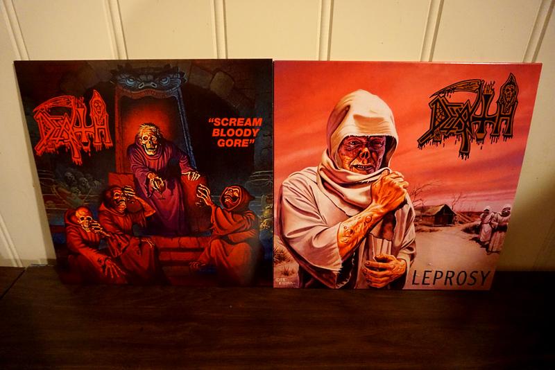 Death: Scream Bloody Gore & Leprosy Black Vinyl