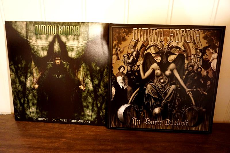 Dimmu Borgir: Enthrone Darkness Triumphant (reissue) & In Sorte Diaboli, Black Vinyls