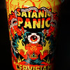 """Satanic panic is a sociological phenomenon that first arose in the early 80's. Everyone was horrified by being subjected to satanic ritual abuse. We have conjured a satanic ritual in the form of a dark, thick, imperial stout brewed with vanilla, molasses, cacao nibs, lactose and freshly ground coffee. This is our over the top tribute to the darkness"""
