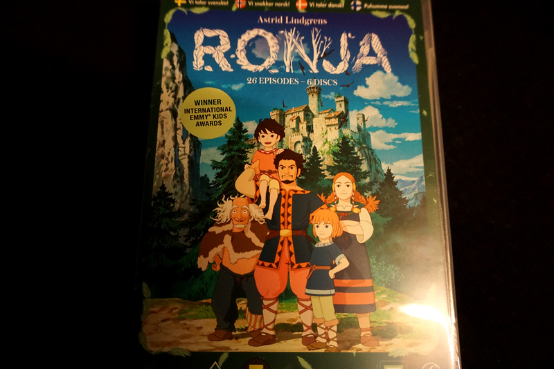 "Watching Ghibli's ""Ronja, the Robber's Daughter"" (with swedish language, of course). Varför då då? Cause I love it!"