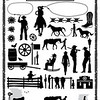 34936081 - cowboys and wild west icons, vector