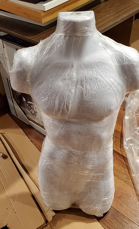 Packing Tape Ghost Halloween Decoration 2019