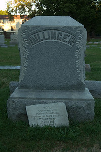 Dillinger family plot at Crown Hill Cemetery