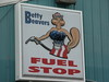 Betty Beaver Fuel Stop Sign