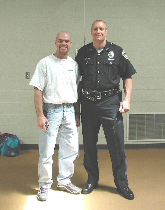 Matt and I at the Police Academy the day of his graduation.  Matt is like a brother to me.  We met when we were 15 years old, began martial arts the same day, and have been great friends ever since.  I love bragging on this guy!  Not only is he an athletic superman but he achieved the highest academic score the Police Academy had ever seen in its 30-some year history!