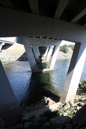 This is the view of the Bridge for the I90 East bound lanes that goes over the Spokane River. Sept 2010