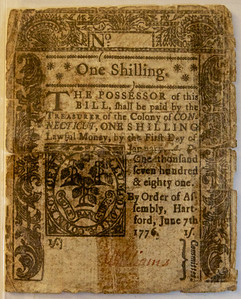 One Shilling - Continental Currency - Post American Revolution ref: c0aa97f7-6154-4099-a081-c9ae6305460f