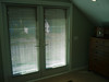 Here are the blinds slightly open.  (My phone camera is pretty good but dosen't do well with light adjustment.)