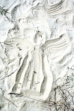 A Sand Angel Mom made when we went to Quinns Hot Springs. July 2010