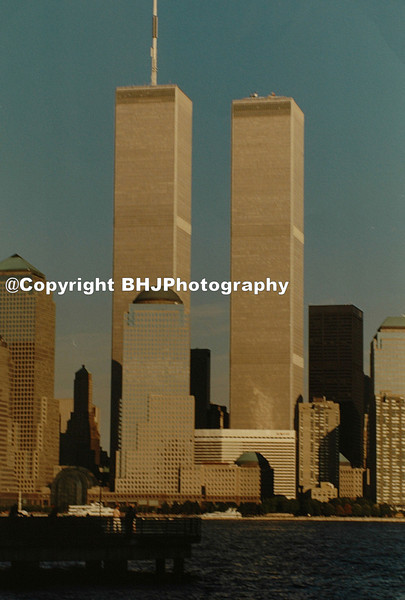 World Trade Center buildings one week before they were destroyed.