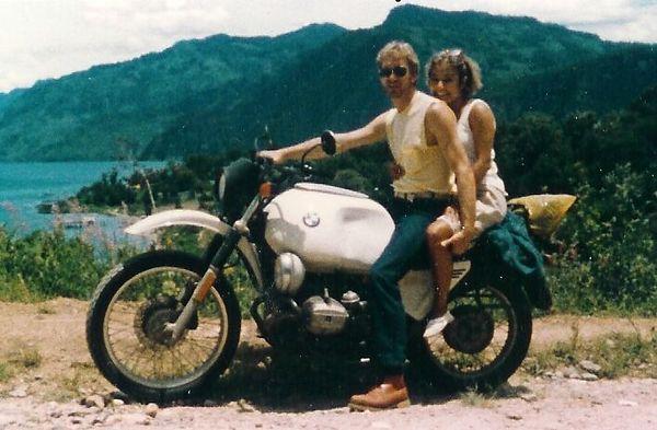 Jackie and me Lago Atitlan closeup