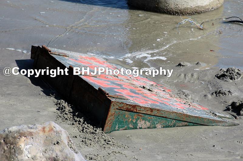 Galveston after Hurricane Ike.  A washed up safe.