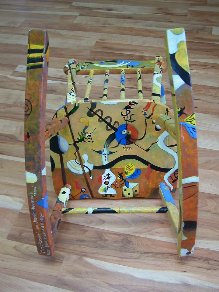 """Miro's Rocker""<br /> after Joan Miro's ""Carnival of Harlequin"""
