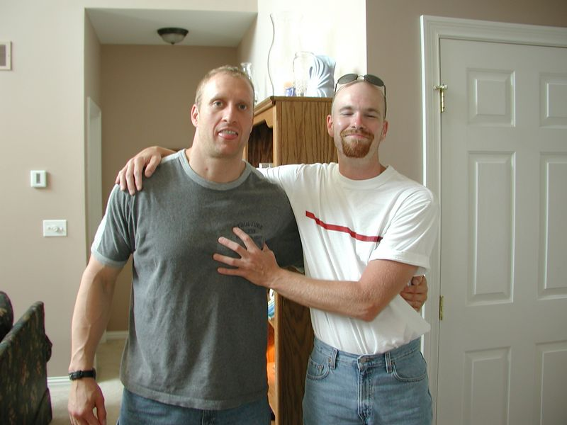 Jeff (on the right) and I have been mistaken for brothers a LOT!  Someone once even thought we were twins!