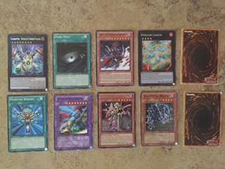 playing with Yu-Gi-Oh cards
