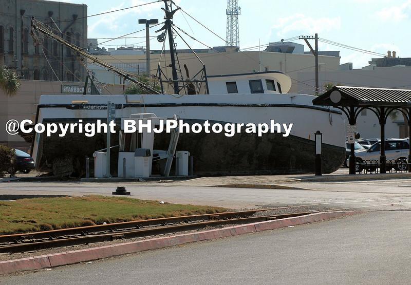 Galveston after Hurricane Ike. Bad parking.