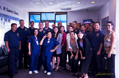 Honolulu Fire Department Officers and Blood Bank of Hawaii staff - 04/01/11