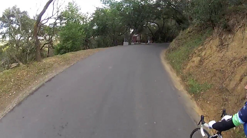 Video of the beginning and the end of the ride up Old La Honda with Bruce Renfrew.