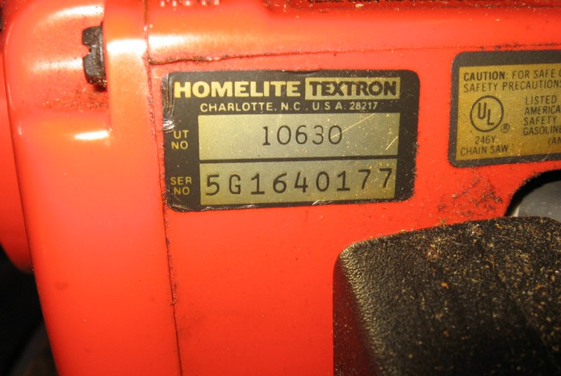 Homelite 240 Chainsaw