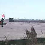 vehicle barrier crash -- truck hits barrier - YouTube