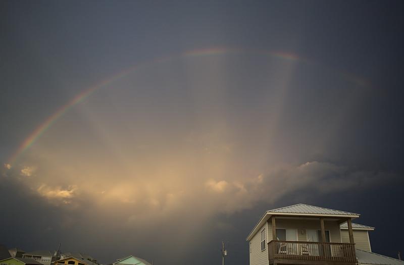 Sunrise rainbow; Fort Morgan, Alabama