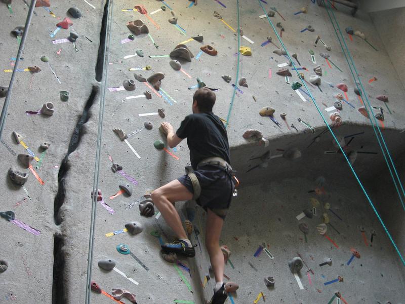 David climbs higher