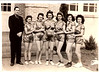 1945 Celina (TX) Hight School girls basketball team. Mother is holding the ball.