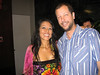 David with Mexican singer Lila Downs after her concert in Rosslyn, Virginia, 31 August 2007