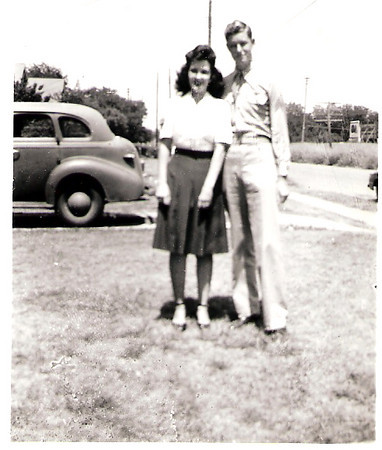 Bill Reynolds & cousin Florene, ca. 1942