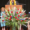 Class President Bryce Peterson addresses his classmantes