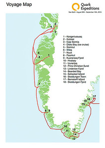 West and South Greenland Expedition Map. Sep 2013