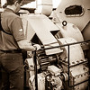 Expedition Day 11 - Engine Room Tour - Propulsion Room and Shafts; Heading South in the Barents Sea.<br /> 11 Jul 2014