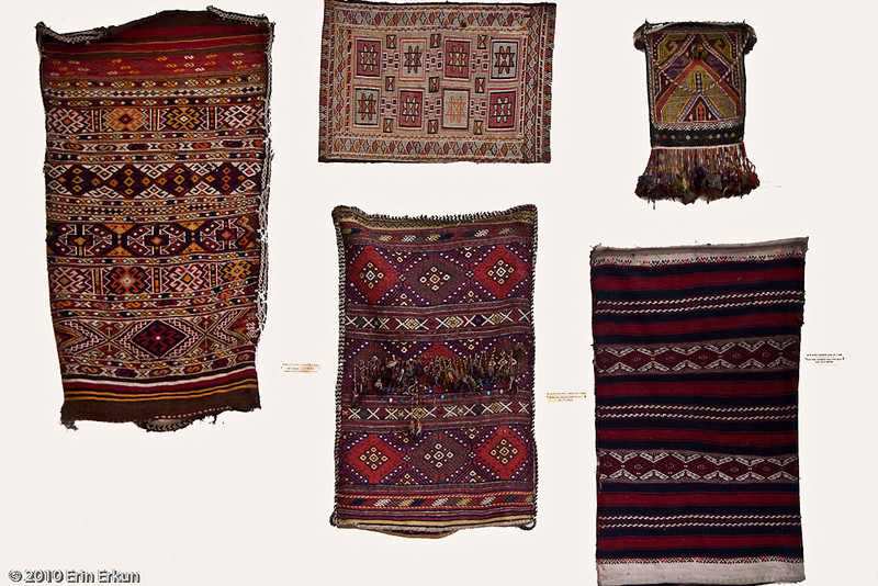 20 April 2010<br /> İzmir Ethnography Museum<br /> Kilim weave sacks from around the Aegean region.