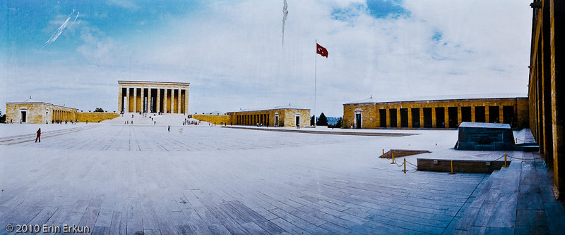 "20 April 2010<br /> Konak - ""Anıtkabir İzmir'de"" (Anitkabir in İzmir) - view of the mauseleum complex from the gravesite of İsmet İnönü, the second president of the Turkish Republic."