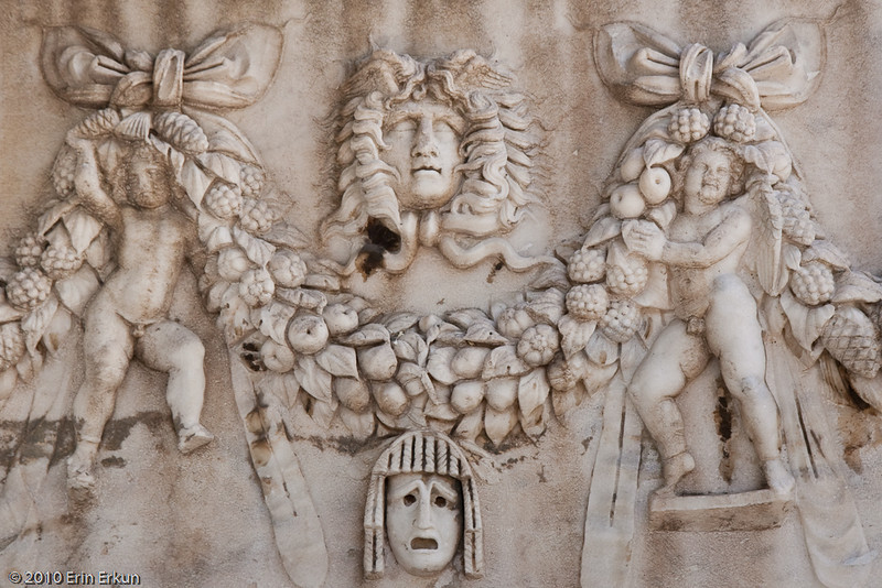 20 April 2010<br /> İzmir Museum of Archaeology<br /> Detail from a Roman Period Sarcophagus (2nd Century AD)