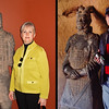 Photo Op with Terracotta Warriors<br /> Left: Erin at the National Geographic Exhibit in Washington DC - 19 March 2010<br /> Right: Mui at Splendid China in Orlando, Florida - 29 December 2002
