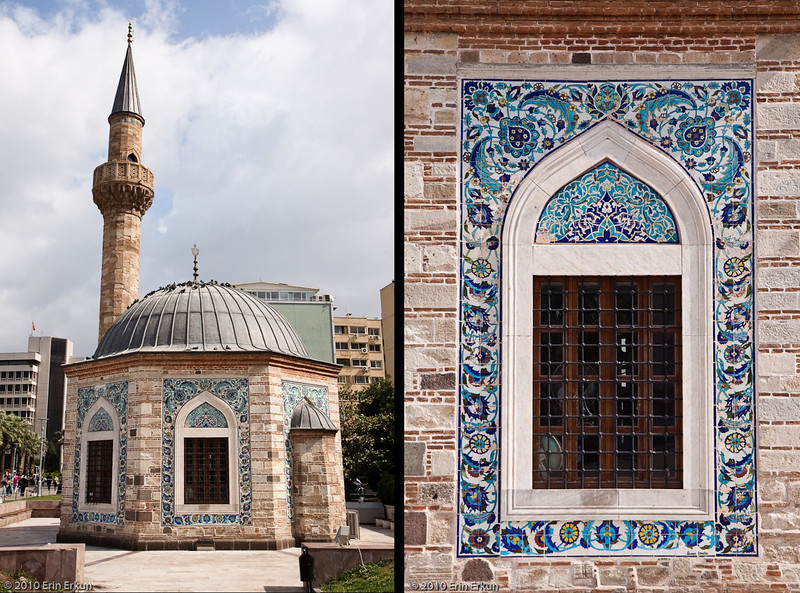 "20 April 2010<br /> Konak - The Konak Camii has a unique octagonal floor plan.  The exterior is decorated with  some of the finest examples of ""çini işi""  (tile work) from Kütahya."