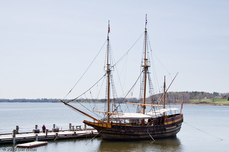 27 March 2010<br /> Historic St Mary's City Living Exhibit  - The Dove<br /> Replica of the smaller of the two ships that brought the settlers from England to America.
