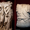 20 April 2010<br /> İzmir Museum of Archaeology<br /> Left: Statue of Two Girls (Hellenistic Period - 2nd Century AD)<br /> Right: Torso from the statue of an emperor (Roman Period - 2nd Century AD)