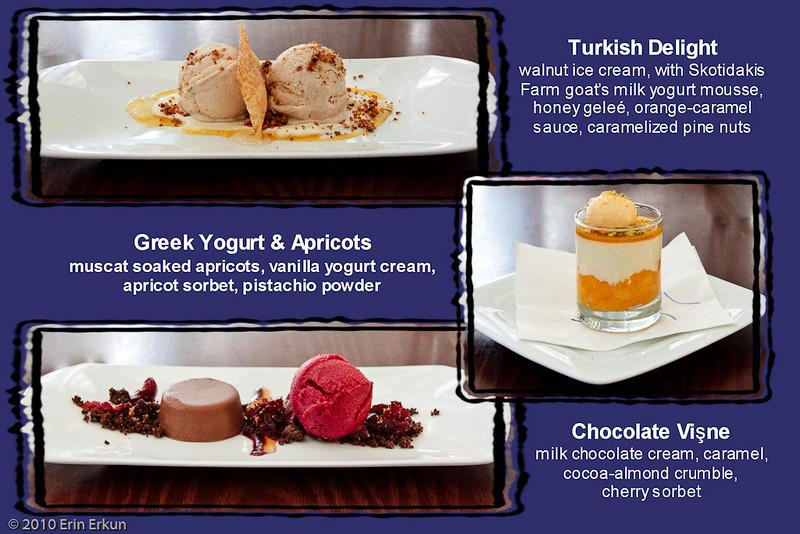 5 March 2010<br /> Zaytinya - Washington, DC<br /> Our meze-style dessert selections.