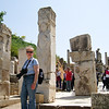 "18 April 2010<br /> An ""Erin was at Ephesus"" photo op at the Gate of Hercules."