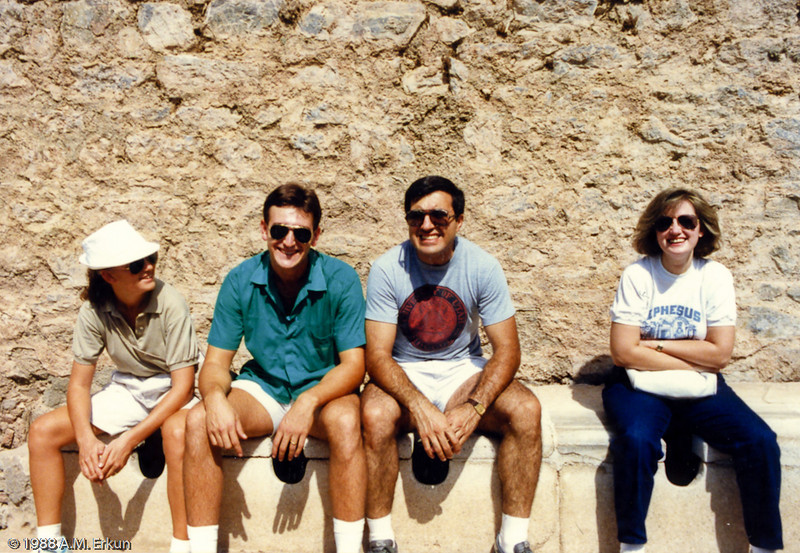September 1988<br /> Ephesus - A Visit to the Public Toilets<br /> (scanned from image)