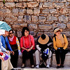 18 April 2010<br /> Ephesus - Public Toilets<br /> A group of tourists listen intently as their guide explains the public toilet system.