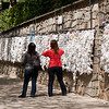 "18 April 2010<br /> Meryemana - House of the Virgin Mary<br /> ""Adak Duvarı"" - a place where believers make pledges to God (or Allah) in return for granting the wishes they've written and tied to this wall."