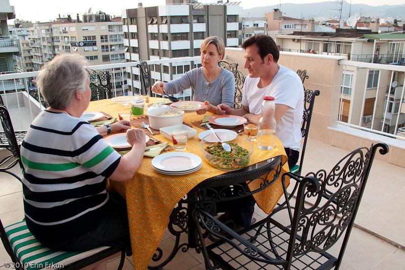 19 April 2010 - Around Alsancak<br /> Dinner on mom's terrace.