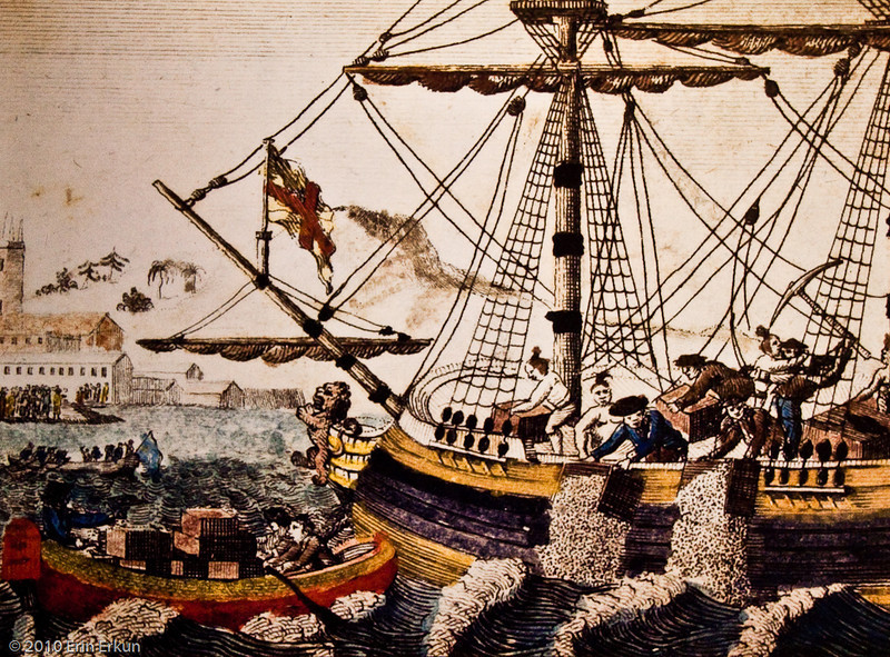 """28 February 2010<br /> Smithsonian National Museum of American History - Washington DC<br /> From the """"America at War"""" exhibit.<br /> <br /> """"The Boston Tea Party"""" (1773)"""
