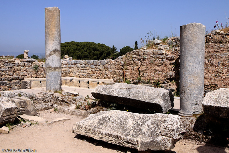18 April 2010<br /> Ephesus - Public Toilets<br /> It's said that the rich residents would send their slaves to warm the seats for them.